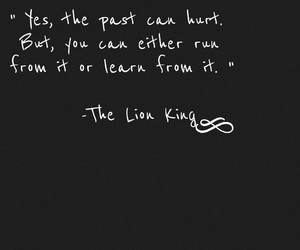 lion king, quote, and sad image