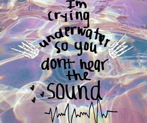 pierce the veil, quote, and water image