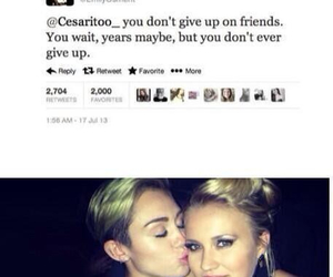 miley cyrus, emily osment, and friendship image