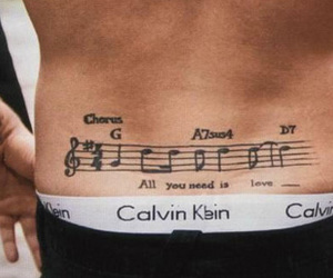 beatles, tattoo, and CK image