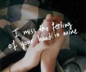 hand, miss you, and cute image