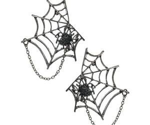 earrings, Halloween, and spider image