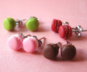 earrings and macarons image