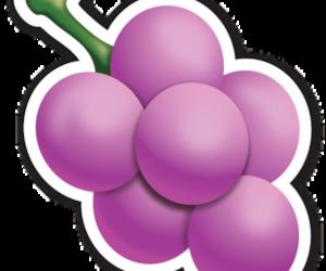 grapes, purple, and emojis image