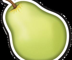green, pear, and emojis image