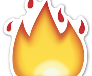 emoji and fire image