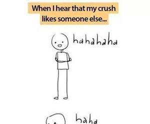 crush, funny, and sad image