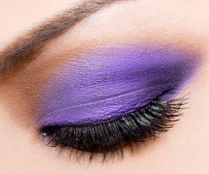makeup, purple, and eye image