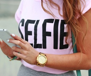 fashion, pink, and selfie image