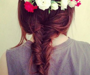 braid, hair style, and so pretty image