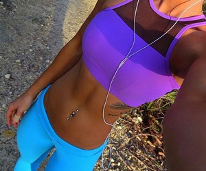 belly button, fitness, and healthy image