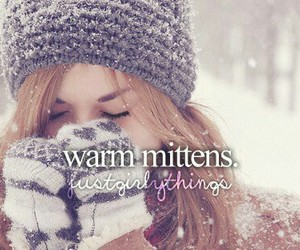 winter, mittens, and snow image
