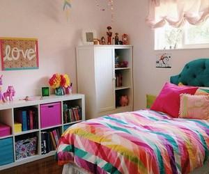 bedroom, beautiful, and girl image