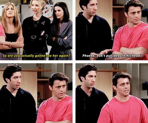 funny, ross, and Joey image