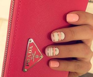 nails, Prada, and pink image