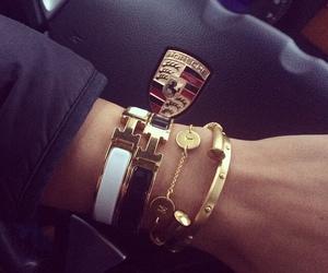 bracelet, car, and hermes image