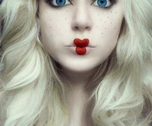 doll, Halloween, and makeup image