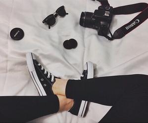 canon, camera, and black image