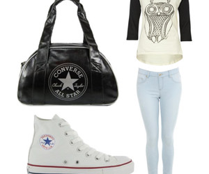 converse, Polyvore, and jeans image
