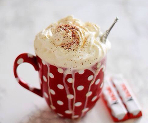 drink, kinder, and hot chocolate image