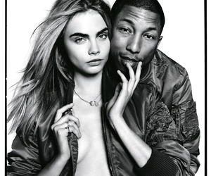 cara delevingne, model, and Pharrell Williams image