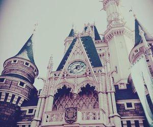 castle, disneyland, and fairytale image