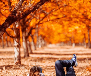 autumn, couple, and love image