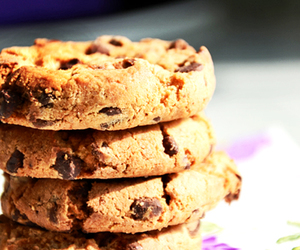 chocolate chip cookies, Cookies, and food image