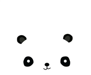 panda, black, and white image