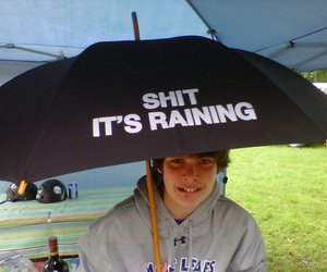 funny, laugh, and rain image
