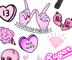 grunge, heart, and pink image