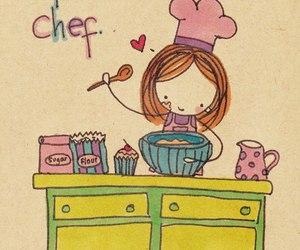 chef, cupcake, and sweet image