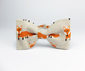 bow tie, fox, and foxes image