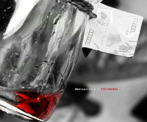 bottle, photography, and red image