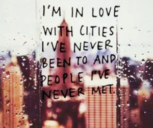 love, city, and quote image