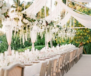 decor, flowers, and wedding marquee image
