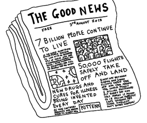 love it, optimist, and the good news image