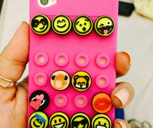 emoji, case, and iphone image