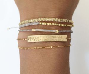 bracelets, cute, and gold image