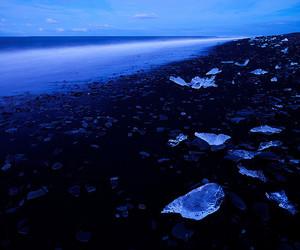 sea, blue, and ice image