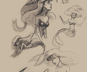 ariel, art, and the little mermaid image