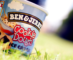 cookie, ice cream, and ben&jerry image