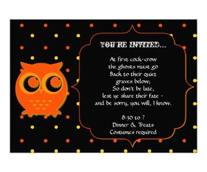 Halloween, party, and invitations image