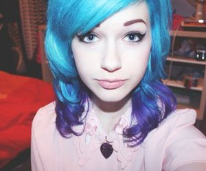 girl, culls, and blue hair image