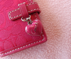 coach, pink, and wallet image