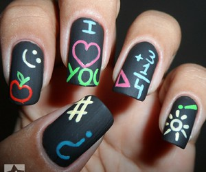 heart and nail design image