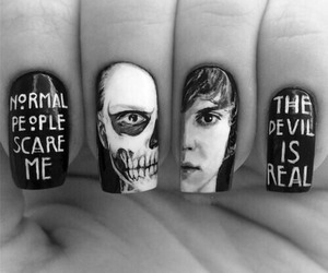 bad ass, mani, and black image