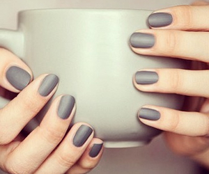 nails, grey, and cup image