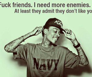 wiz khalifa, enemy, and friends image