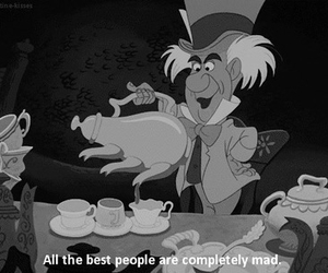 alice in wonderland, mad, and quotes image